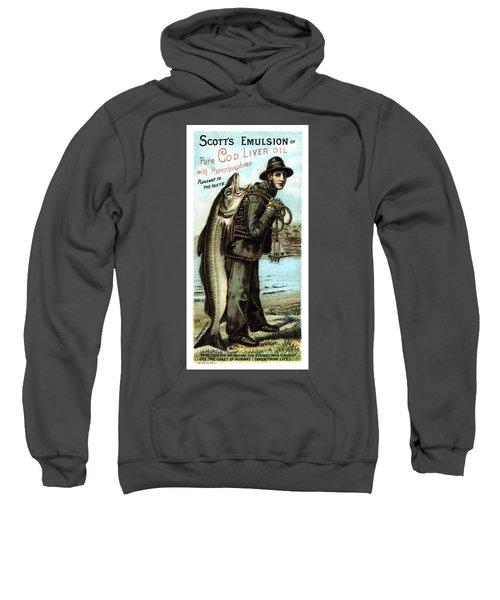 Scott's Emulsion Of Pure Cod Liver Oil - Vintage Advertising Poster Sweatshirt