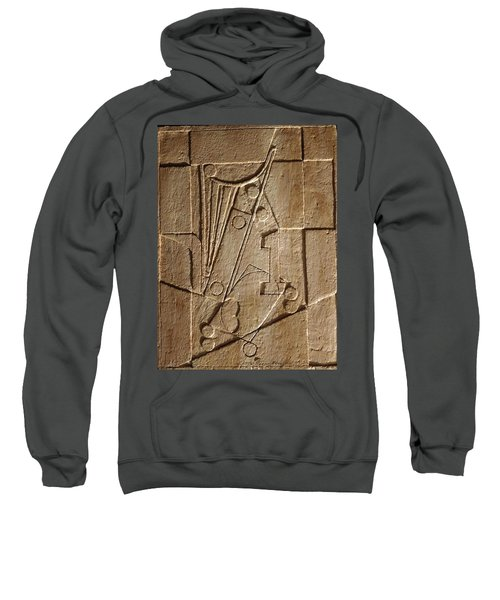 Sculptured Panel - Influenced By Picasso's Painting Having The Number 1 Sweatshirt