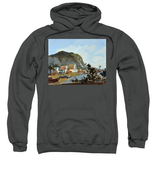 Sea And Mountain With Boats Sweatshirt