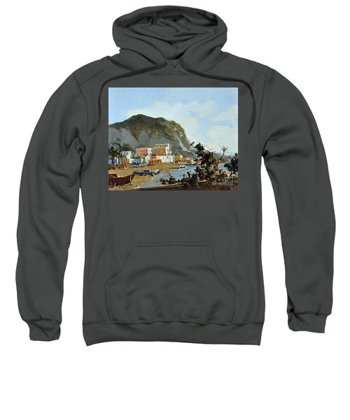 Sea And Mountain With Boats Sweatshirt