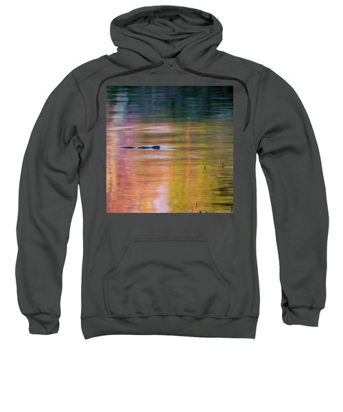 Sweatshirt featuring the photograph Sea Of Color Square by Bill Wakeley