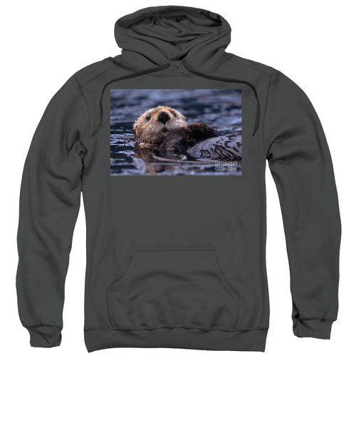 Sea Otter Sweatshirt by Yva Momatiuk and John Eastcott and Photo Researchers