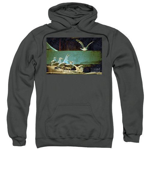 Seagulls On The Beach Sweatshirt