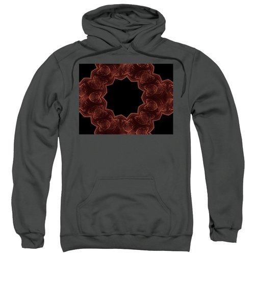 Seamless Kaleidoscope Copper Sweatshirt