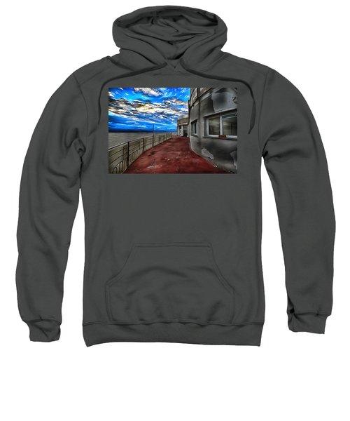 Seascape Atmosphere - Atmosfera Di Mare Dig Paint Version Sweatshirt