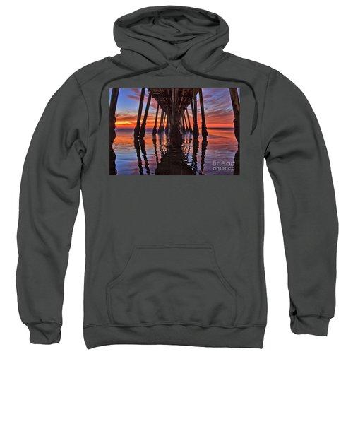 Seaside Reflections Under The Imperial Beach Pier Sweatshirt