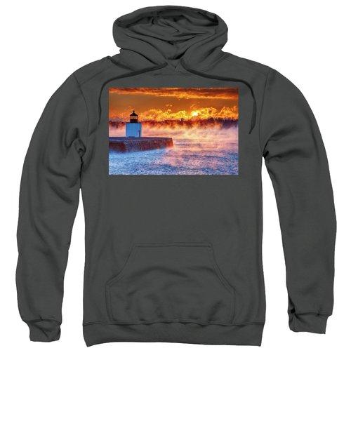 Seasmoke At Salem Lighthouse Sweatshirt