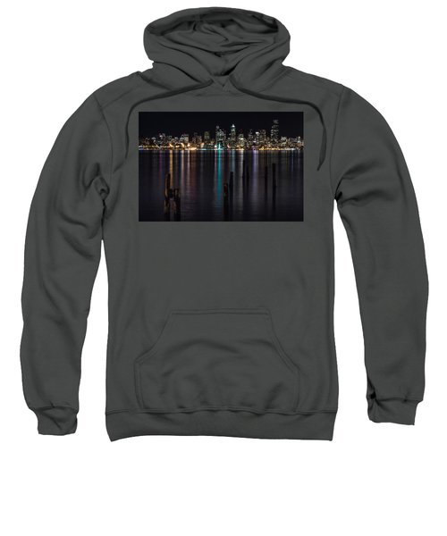Seattle At Night Sweatshirt