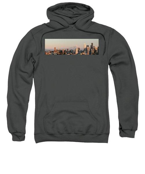 Seattle Panorama At Dusk Sweatshirt
