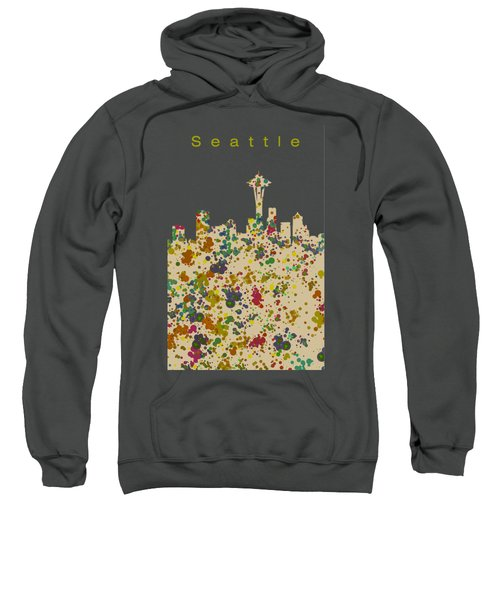 Seattle Skyline 1 Sweatshirt by Alberto RuiZ