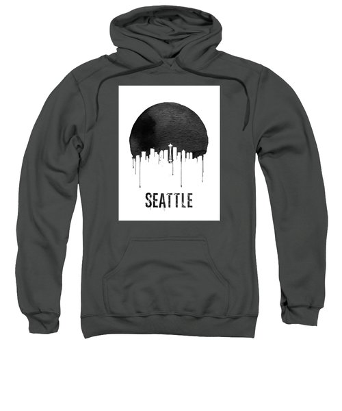 Seattle Skyline White Sweatshirt by Naxart Studio