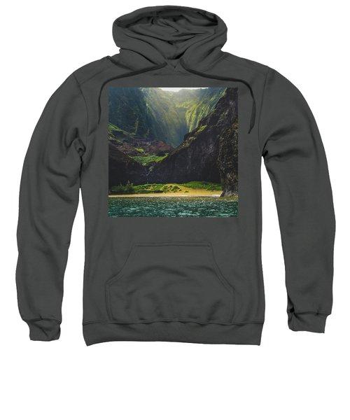 Secluded Kalalau Beach Sweatshirt
