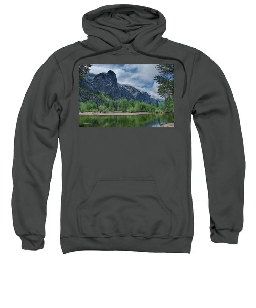 Sentinel Rock After The Storm Sweatshirt by Bill Roberts
