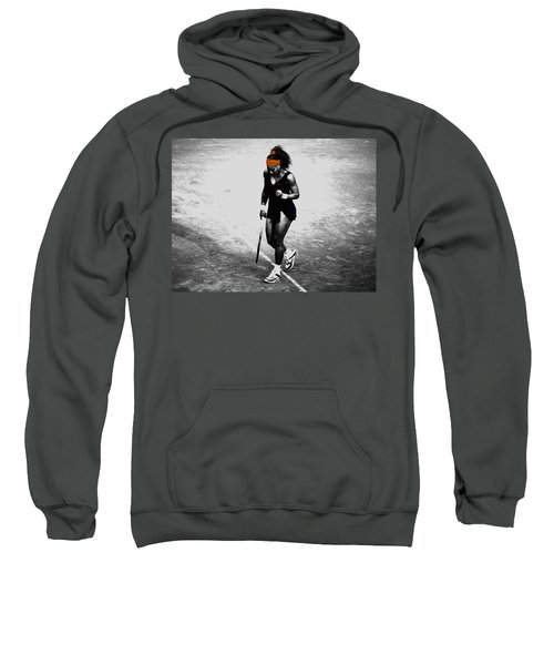 Serena Williams Match Point 3a Sweatshirt by Brian Reaves