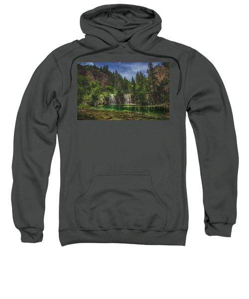 Serene Hanging Lake Waterfalls Sweatshirt