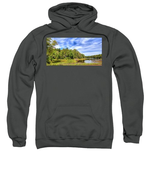 Sweatshirt featuring the photograph Serenity On Bald Mountain Pond by David Patterson