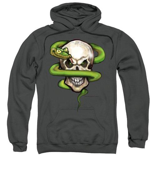 Serpent Evil Skull Sweatshirt by Kevin Middleton