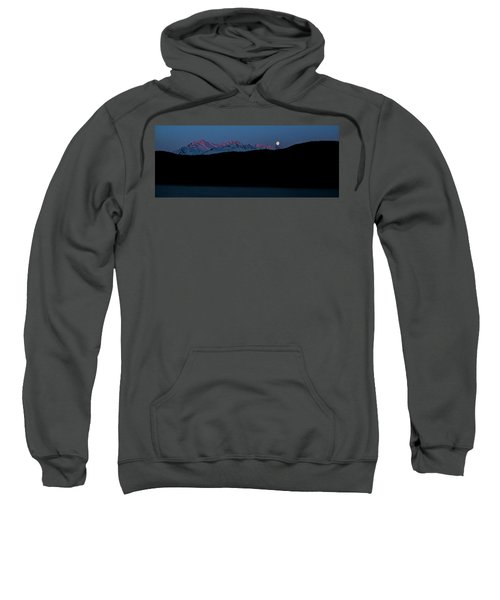Setting Moon Over Alaskan Peaks II Sweatshirt