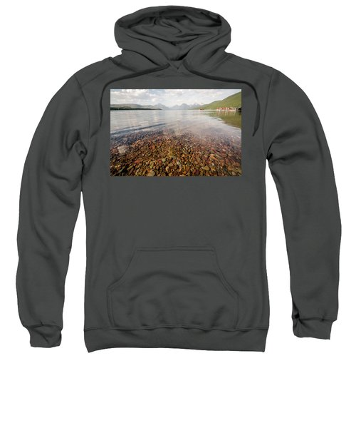Setting Sun On Lake Mcdonald Sweatshirt