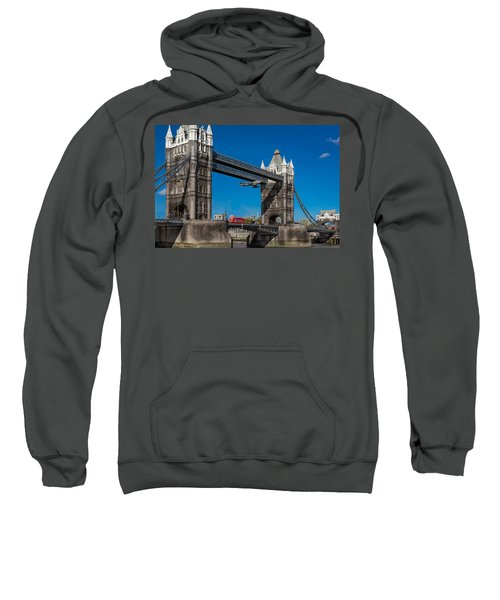 Sweatshirt featuring the photograph Seven Seconds - The Tower Bridge Hawker Hunter Incident  by Gary Eason