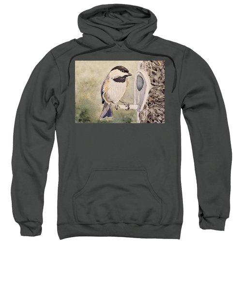 Shades Of Black Capped Chickadee Sweatshirt