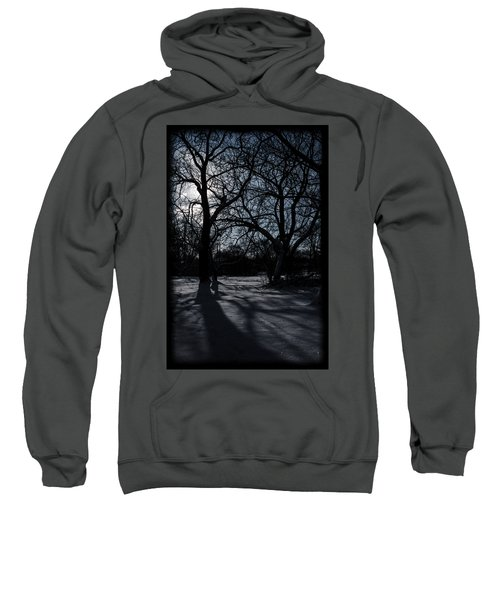 Shadows In January Snow Sweatshirt