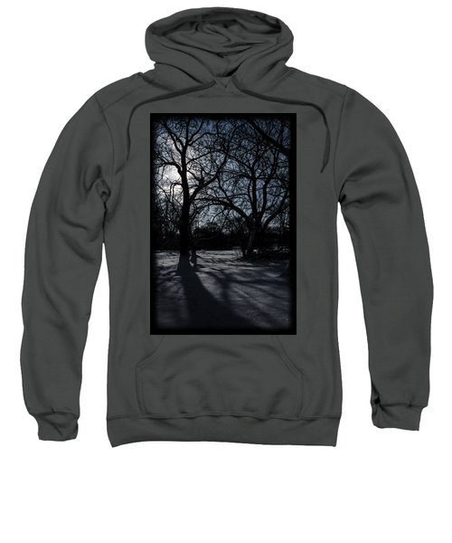 Shadows In January Snow Sweatshirt