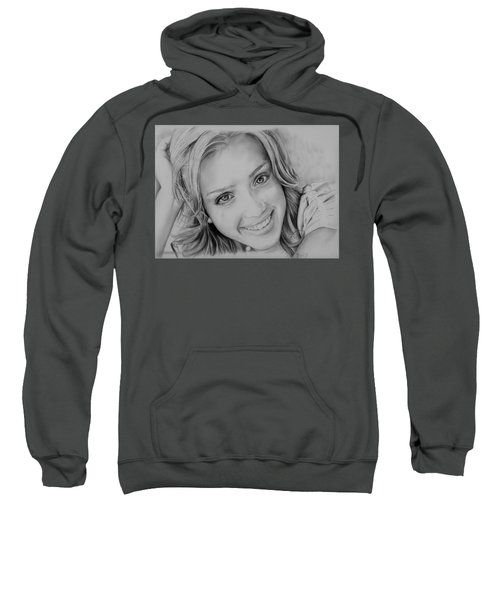 She Smiles Sweatshirt by Jessica Perkins