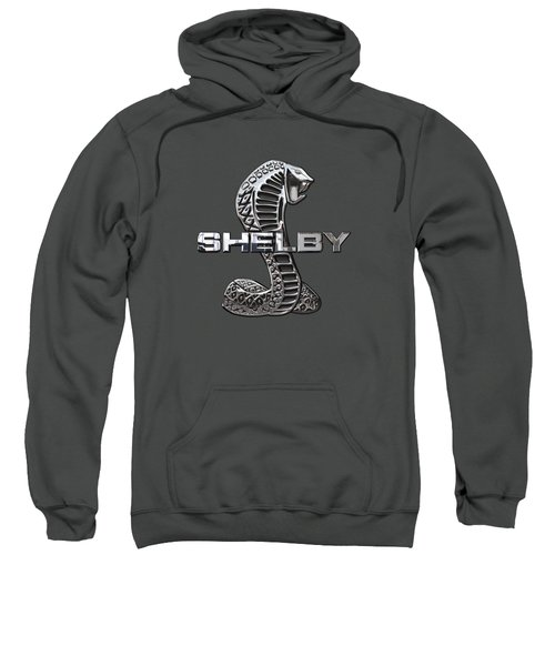 Shelby Cobra - 3d Badge On Red Sweatshirt