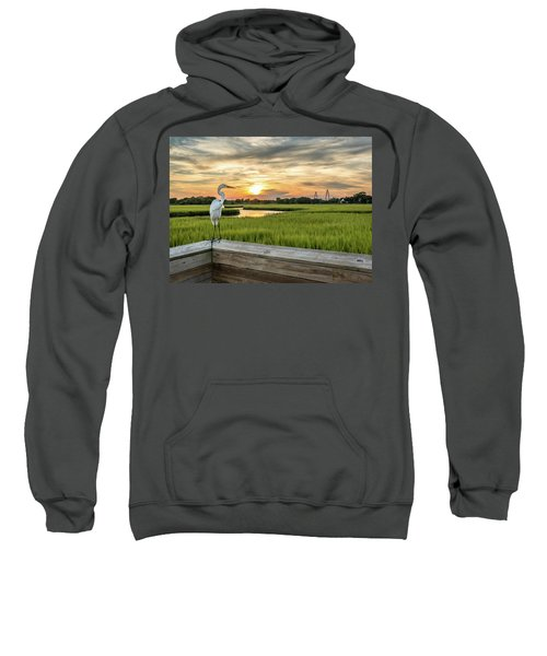 Shem Creek Pier Sunset Sweatshirt