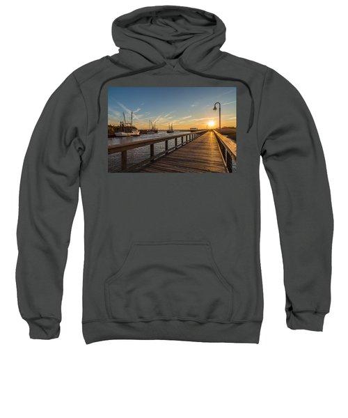 Shem Creek Pier Sunset - Mt. Pleasant Sc Sweatshirt