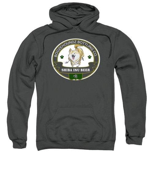 Shiba Inu Beer Sweatshirt by John LaFree