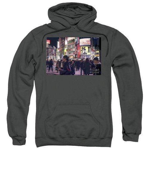 Shibuya Crossing, Tokyo Japan Poster 3 Sweatshirt