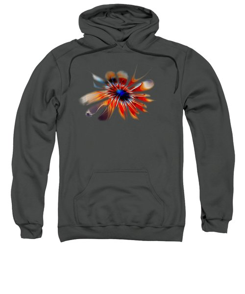 Shining Red Flower Sweatshirt