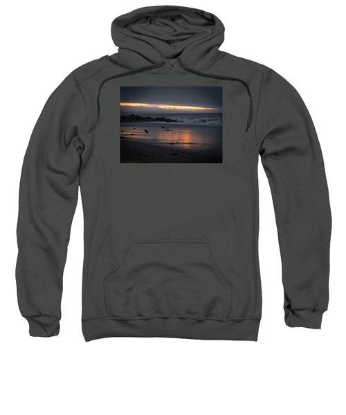 Sweatshirt featuring the photograph Shining Sand by Lora Lee Chapman
