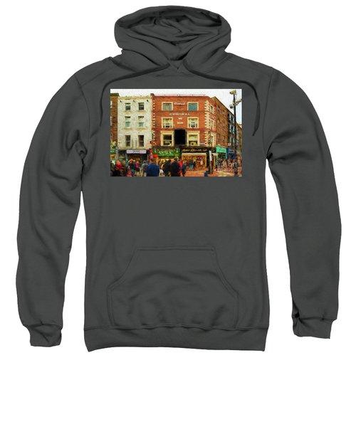 shopping on Grafton Street in Dublin Sweatshirt