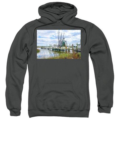 Shrimp Boats Of St. Helena Island Sweatshirt