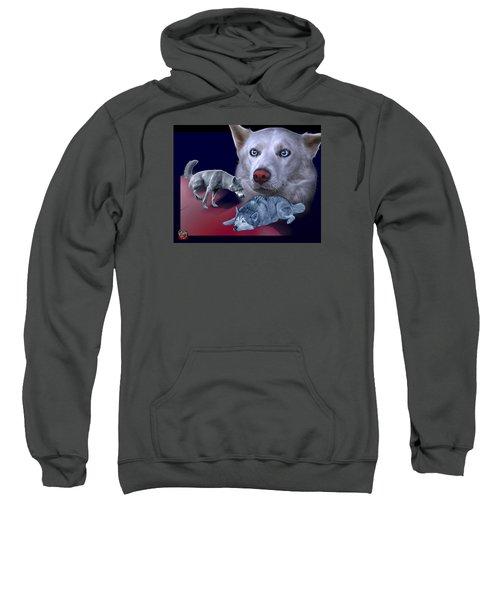Siberian Husky - Modern Dog Art - 0002 Sweatshirt