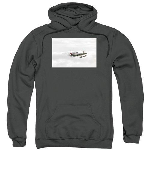 Silver Spitfire In A Cloudy Sky Sweatshirt by Gary Eason