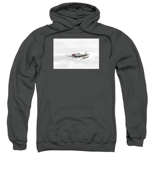 Silver Spitfire In A Cloudy Sky Sweatshirt