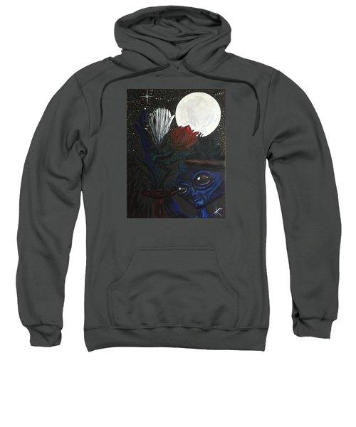 Similar Alien Appreciates Flowers By The Light Of The Full Moon. Sweatshirt