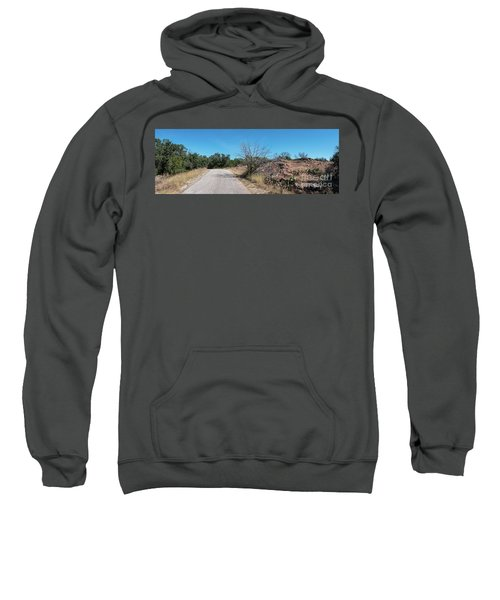 Single Lane Road In The Hill Country Sweatshirt