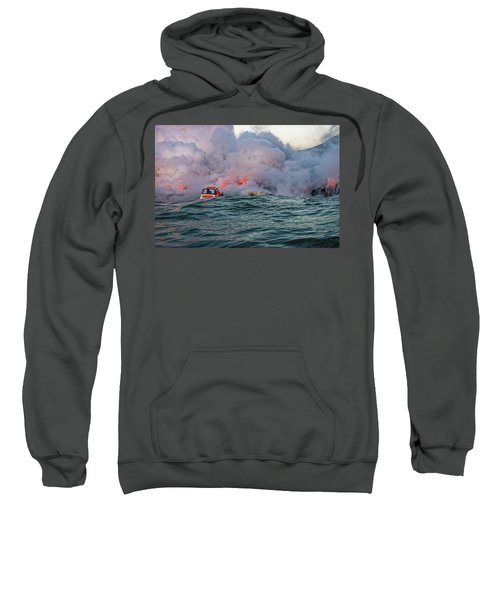 Sweatshirt featuring the photograph Six Pac by Jim Thompson