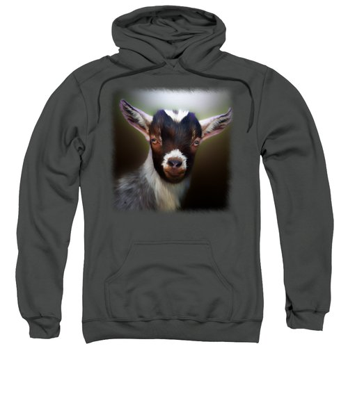 Skippy - Goat Portrait Sweatshirt by Linda Koelbel