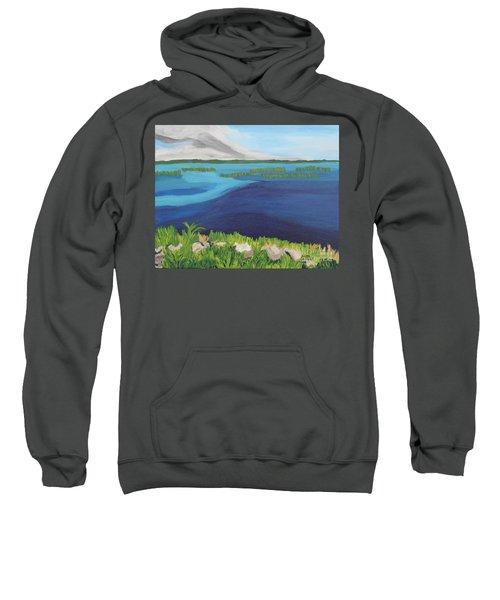 Serene Blue Lake Sweatshirt
