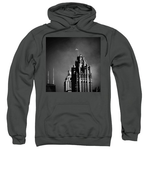 Skyscrapers Then And Now Sweatshirt by Frank J Casella