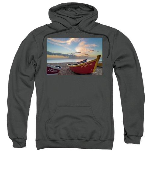 Sleeping Boats On The Beach Sweatshirt