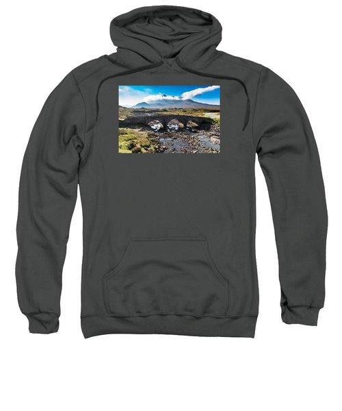 Sweatshirt featuring the photograph Skye Cuillin From Sligachan by Gary Eason