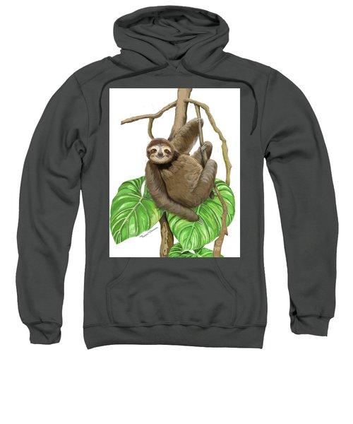 Hanging Three Toe Sloth  Sweatshirt