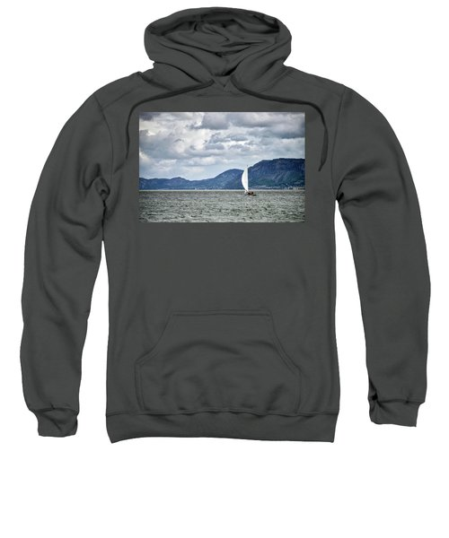 Small Leisure Sailing Boat On Menai Straits In Anglesey Wales Wi Sweatshirt